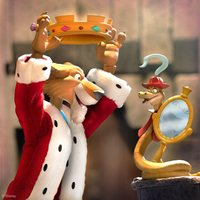 Disney Ultimates! - Robin Hood's Prince John with Sir Hiss Figure