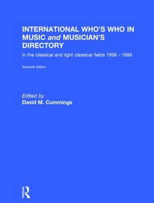 International Who's Who in Music and Musician's Directory by David M. Cummings image