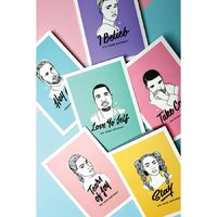 Famous Flames Birthday Card - Hey Girl image