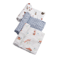 Little Unicorn: Cotton Muslin Swaddle - Fox (3 Pack)