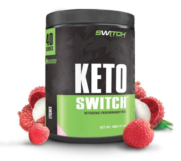 Keto Switch - Ketogenic Performance Fuel - BHB Ketones - Lychee (40 Serves)