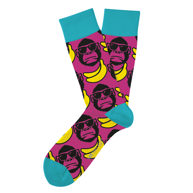 Two Left Feet: Funky Monkey Everyday Socks - Small