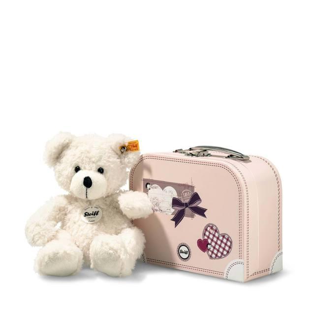 Steiff:Lotte Teddy Bear in Suitcase - White