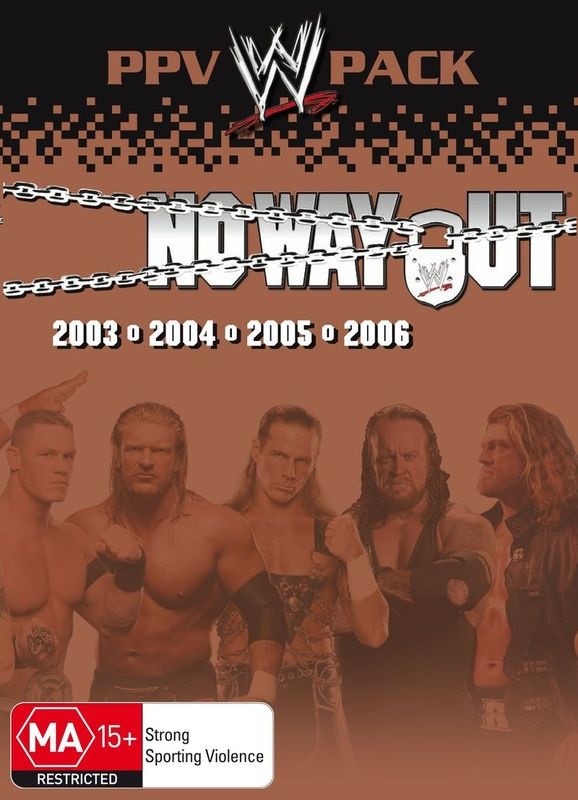 WWE - No Way Out: PPV Pack (4 Disc Box Set) on DVD