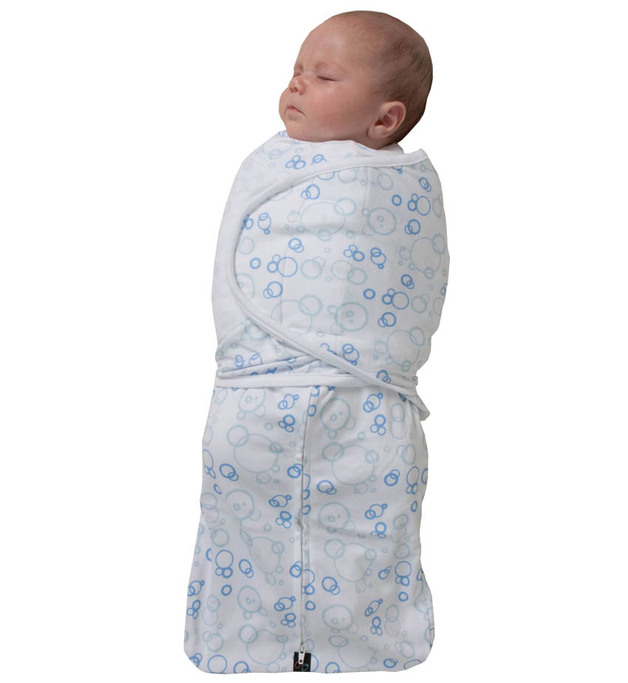 Mum 2 Mum Small DreamSwaddle - Blue Bubbles