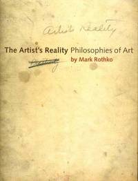 The Artist's Reality by Mark Rothko