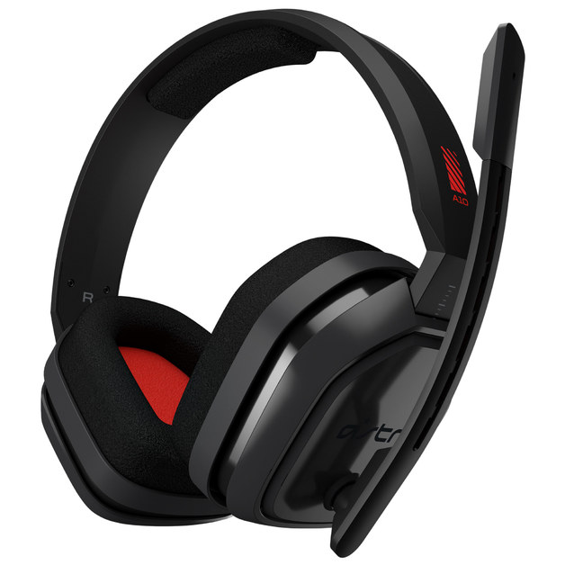 Astro A10 Wired Headset (Grey/Red) for PC Games
