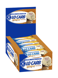 Aussie Bodies Lo Carb Whip'd Protein Bars - English Toffee (12x30g) image