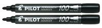 Pilot SCA 100 Permanent Marker Bullet Tip - Black (2 Pack)