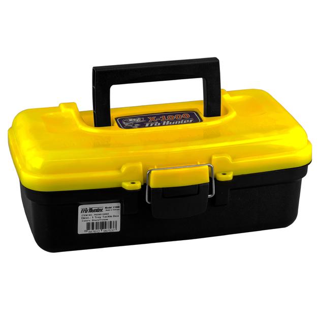 Pro Hunter One Tray Tackle Box - Yellow/Orange