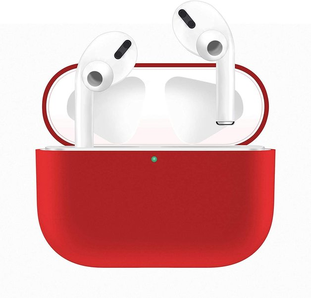 Airpods Pro Silicone Slim Light Protective Cover - Red