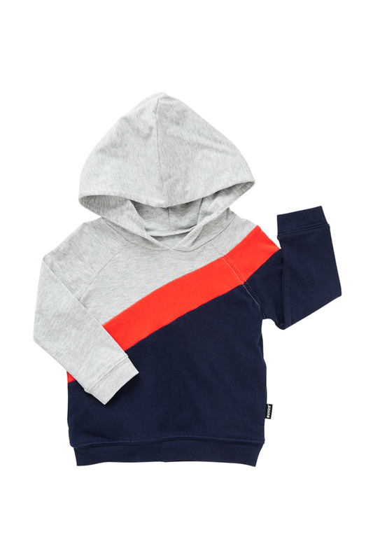 Bonds New Era Splice Hoodie - Slay Red/Deep Arctic (0-3 Months)