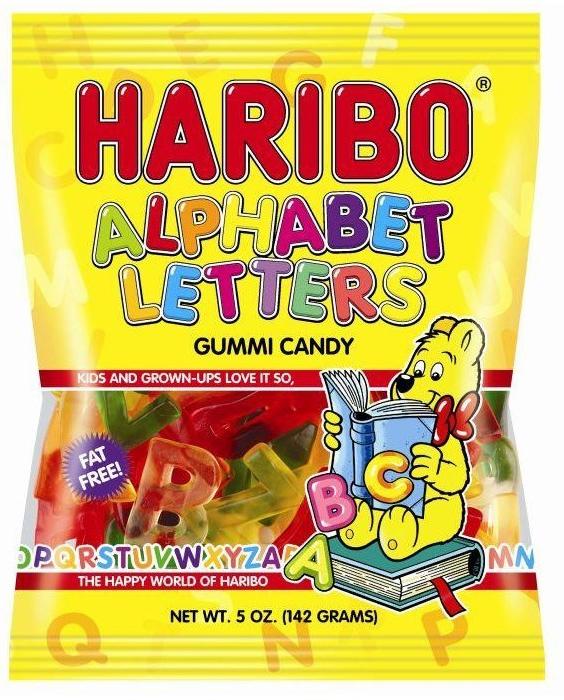 Haribo Alphabet Letters Gummi Candy 142g