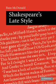 Shakespeare's Late Style by Russ McDonald image