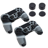 Piranha PS4 2 x Skins 8 x Grips for PS4