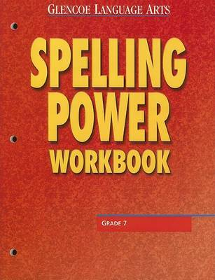 Glencoe Language Arts Spelling Power Workbook Grade 7 by McGraw Hill image
