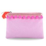 Pink Poppy: Pom Pom Party Coin Purse - (Lilac)