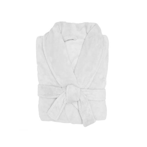 Bambury: Microplush Bath Robe - White (Small / Medium)