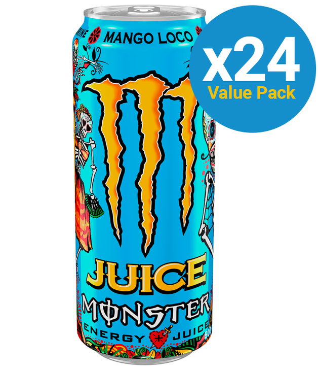 Monster Energy Juice Mango Loco 500ml (24 Pack)