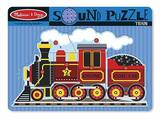 Melissa & Doug: Train Wooden Sound Puzzle