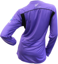 Silver Ferns Ladies Long Sleeve Training Tee - Grape (Size 14)
