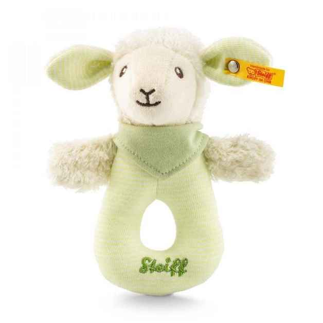 Steiff:Lenny Lamb Grip Toy with Rattle - Green
