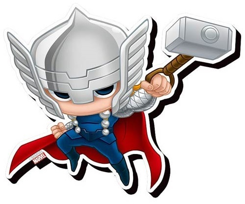 Avengers: Chibi Funky Chunky Magnet - Thor