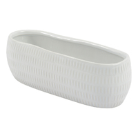 Oren Oblong Planter - White