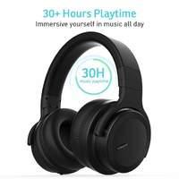 Cowin: E7 ACE Active Noise Cancelling - Wireless Bluetooth Headphones (Matte Black)
