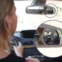 Moose Baby in View Car Back Seat Mirror - Rhino