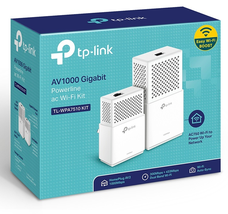 TP-Link TL-WPA7510 KIT AV1000 Gigabit Powerlilne Wi-Fi Kit image