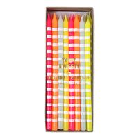 Pastel Stripes Party Candles