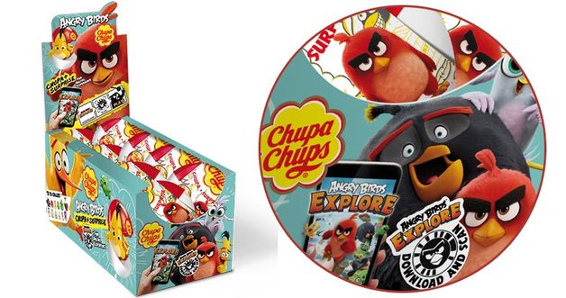 Chupa Chups Surprise - Angry Birds (16 Pieces)