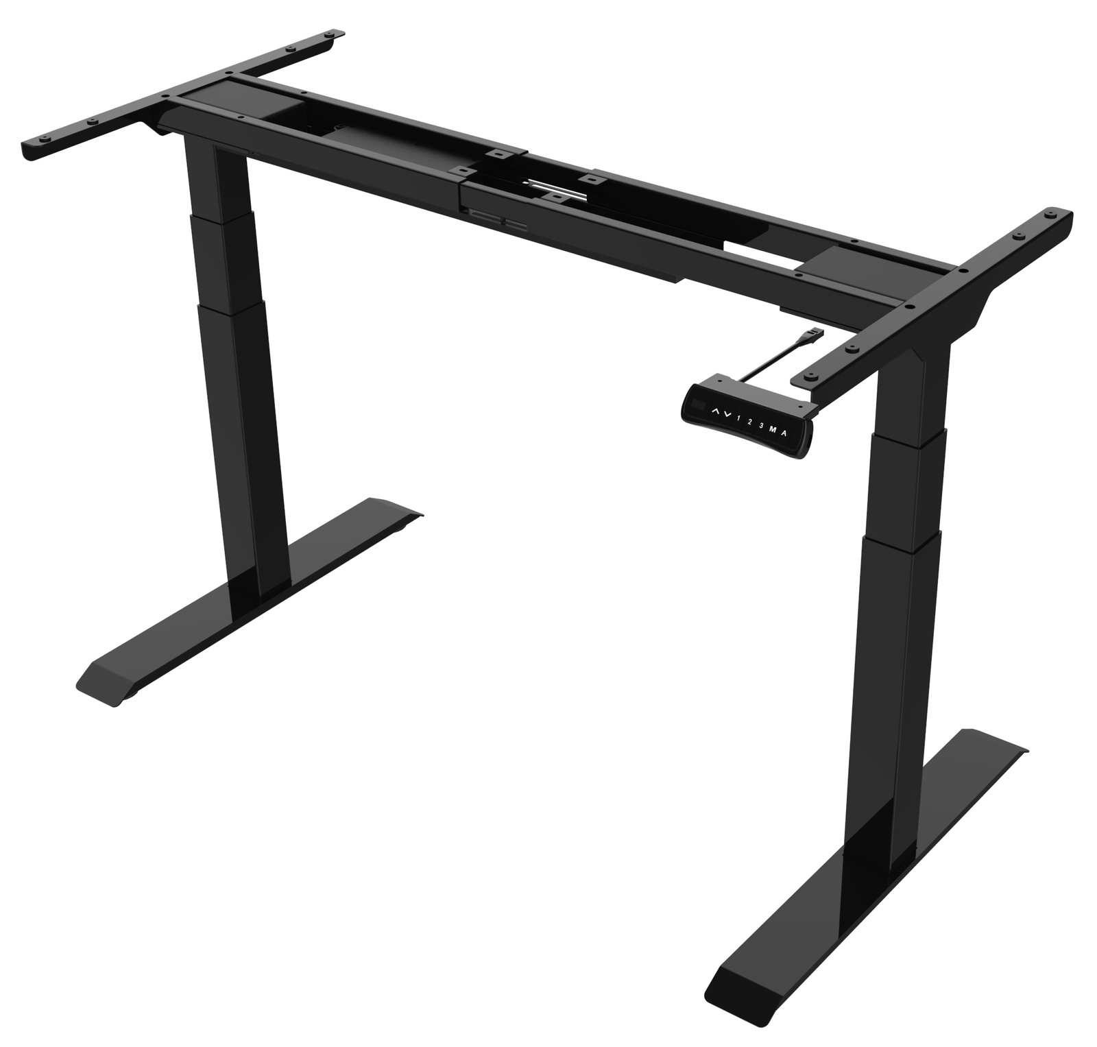 Gorilla Office: 3-Stage Motorised Height Adjustable Desk - Black/Black (1800 x 800mm) image