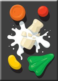 Spilt Milk Fridge Magnet - Glenn Jones