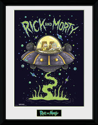 Rick and Morty: Ship - Framed Print