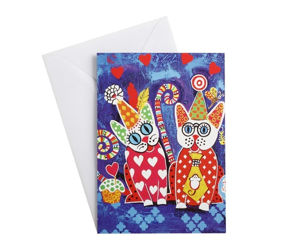 Maxwell & Williams: Love Hearts Greeting Card - Cup Cakes