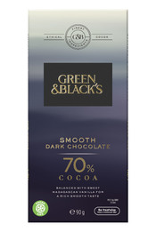 Green & Black's Smooth Dark Chocolate - 70% Cocoa (90g)