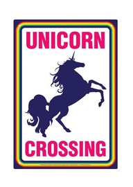 Unicorn Crossing - Novelty Tin Sign