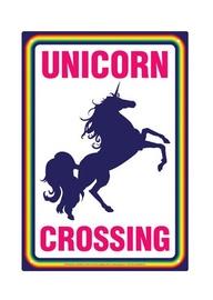 Unicorn Crossing - Novelty Tin Sign