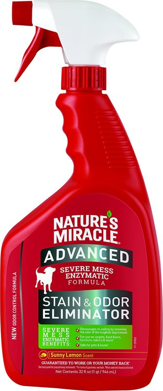Natures Miracle: Advance Stain and Odour Lemon Scent 946ml
