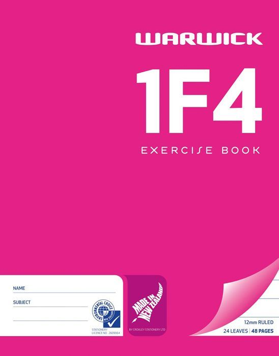 Warwick 1F4 24lf 12mm Exercise Book image