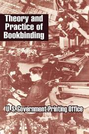 Theory and Practice of Bookbinding by U.S. Government Printing Office image