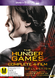 The Hunger Games Collection - Four Movie Box Set on DVD