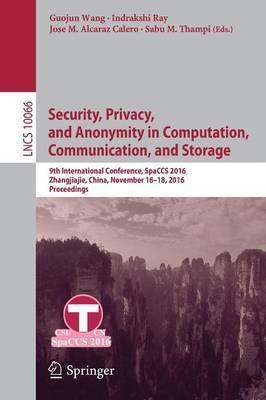 Security, Privacy, and Anonymity in Computation, Communication, and Storage image