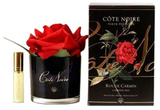 Côte Noire Perfumed Natural Touch Rose in Black (Carmine Red)