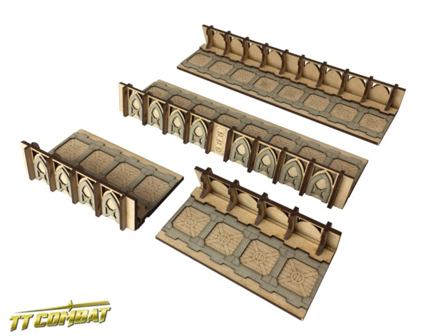 TTCombat: Tabletop Scenics - Fortified Trench Straight Sections