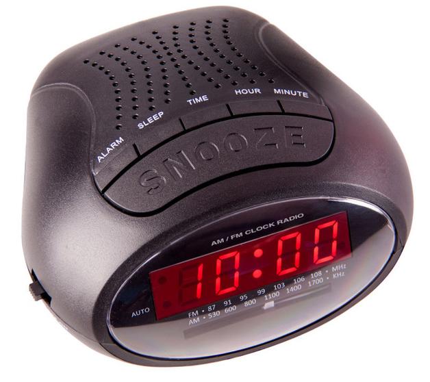 Laser Alarm Clock Radio AM/FM with Power Back-Up