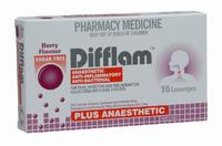 Difflam Plus Anaesthetic Lozenges - Berry (16's)