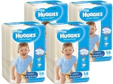 Huggies Ultra Dry Nappies Convenience Shipper: Junior Boy 16+kg (56)